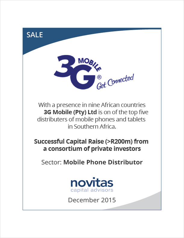 3G Mobile successful capital raise from private investors