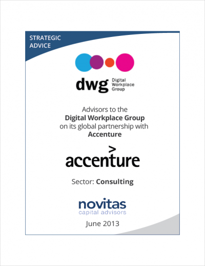 Novitas - advisors to Digital Workplace Group on its global partnership with Accenture