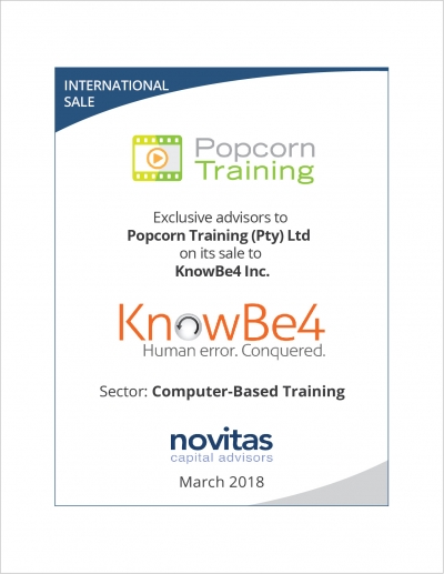 Popcorn Training joins forces with KnowBe4